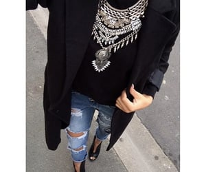 black, chain, and fall image