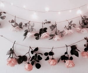 bedroom, rose, and brown image