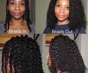 beautiful hair, black women, and long hair image