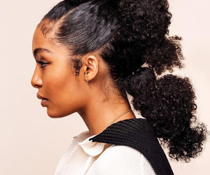 curls, natural hair, and curly hair image