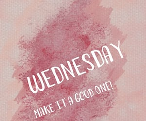 pink, wednesday, and week day image