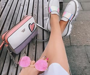 pink cute pretty, love life heart, and fashion fashionable style image