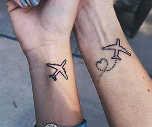 tattoo, plane, and tumblr image