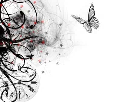 background, black, and butterfly image