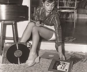 audrey hepburn, vintage, and record image