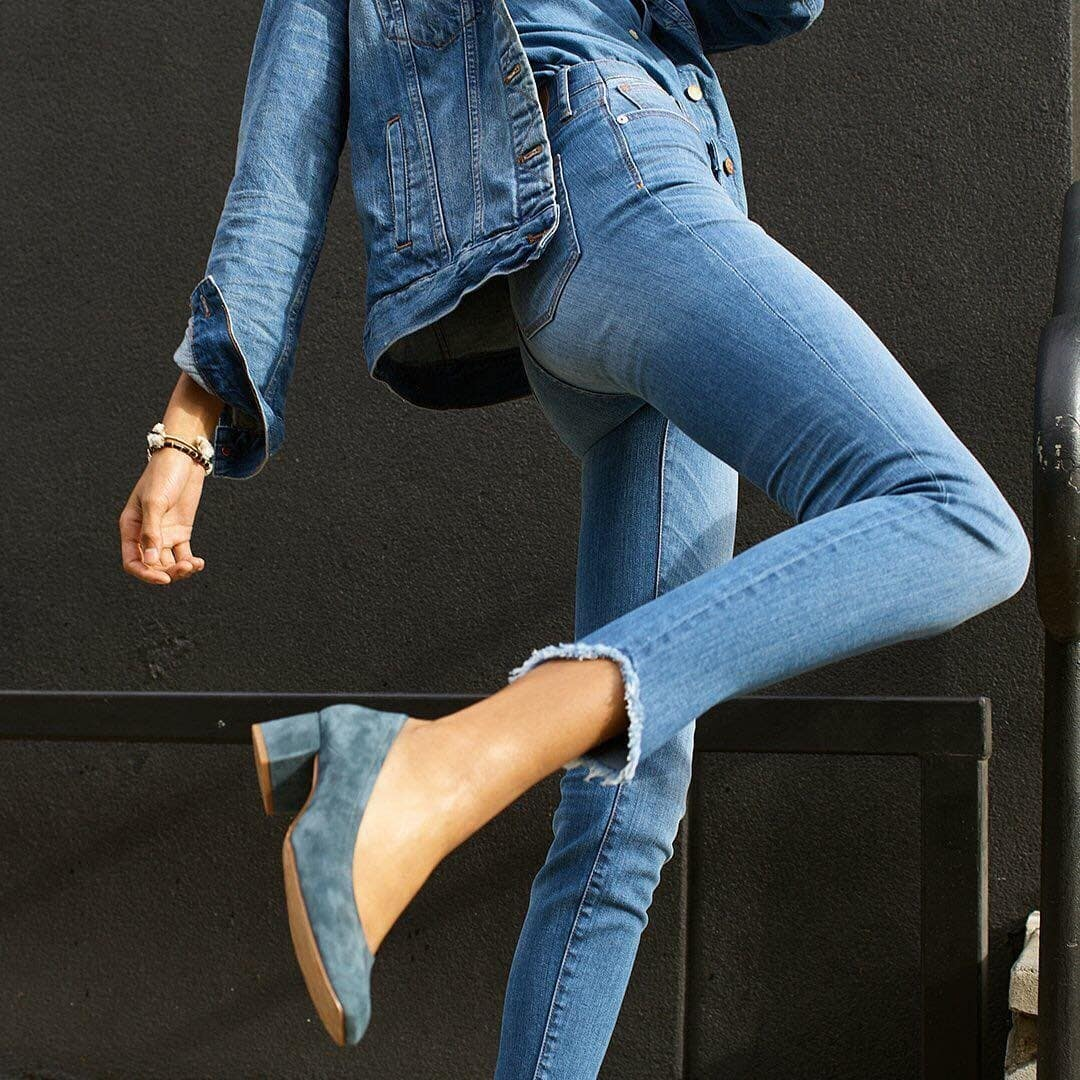 madewell and denim on denim image