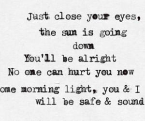 Taylor Swift, safe and sound, and Lyrics image