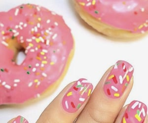 beauty, donuts, and nails image