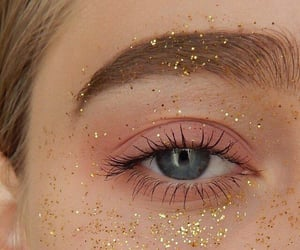 glitter, eye, and makeup image