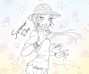 cornelia, mangagirl, and lineart image