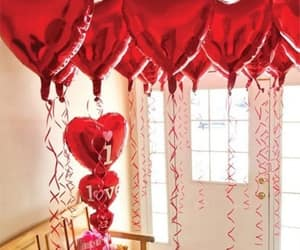 balloons, Valentine's Day, and love image