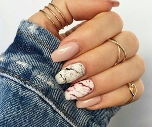 nails, marble, and rings image