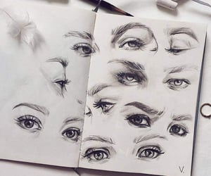 drawings, girl girly lady, and eyes eyebrows brows image