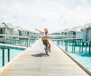 biking, sun, and outfit image