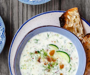 bread, cucumber, and food image