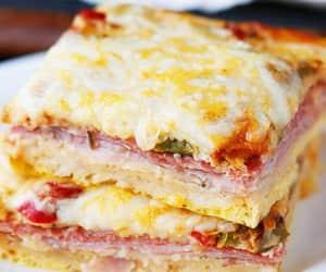 breakfast, ham, and casserole image