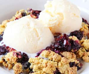 blueberry, cobbler, and dessert image