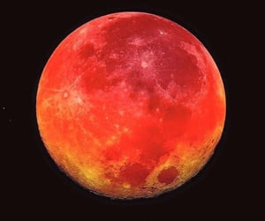 moon, red, and night image