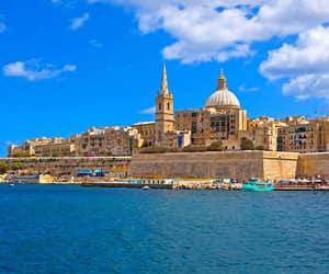 city, malta, and sea image