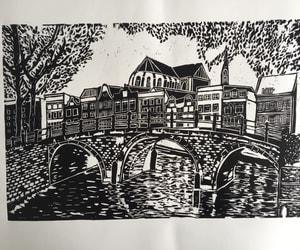 amsterdam, woodcut, and art image