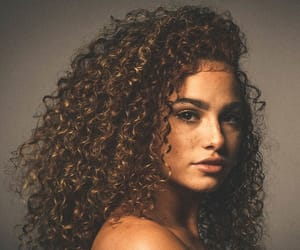 curly, girls, and hair image