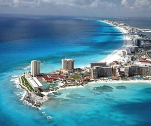 cancun, mexico, and beach image