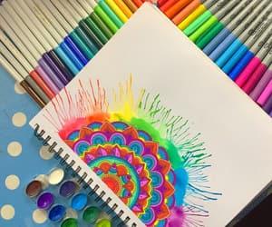 colors, crayola, and mandala image