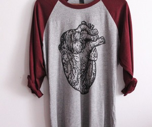 heart, fashion, and t-shirt image