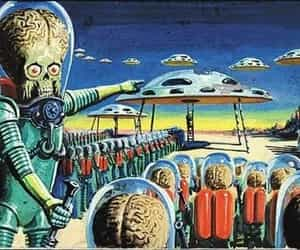 alien, scifi, and mars attacks image