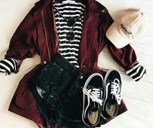 cap, jacket, and stripes image