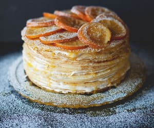 food, orange, and cake image