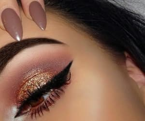 classy, eye makeup, and fashion image