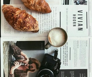 croissant, coffee, and morning image