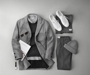 coat, formal, and beenie image