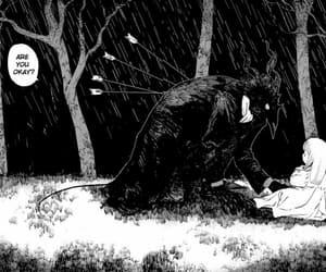 manga, dark, and cute image