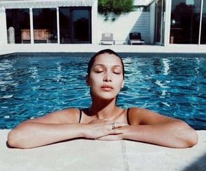 bella hadid, model, and pool image