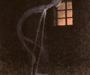 art, death, and creepy image