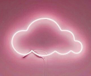 neon lights, pink, and cloud image
