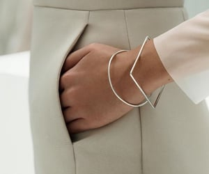 jewelry, minimal, and silver image