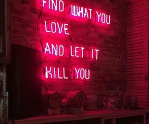 neon, quotes, and love image
