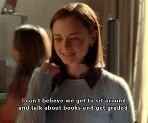gilmore girls, book, and rory image