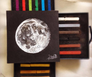 amazing, drawing, and moon image