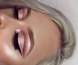 bronze, pink, and eyebrows image