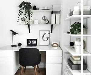 home, desk, and room image