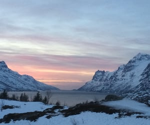 fjord, mountain, and norway image