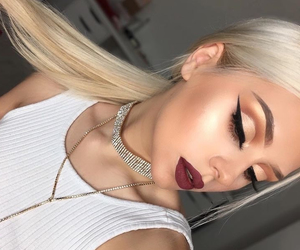 blonde, cut crease, and dp image