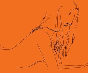 girl, orange, and art image