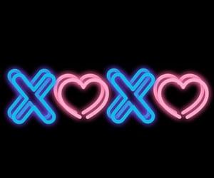 neon lights, xoxo, and love image