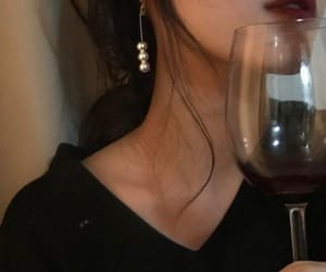 wine, aesthetic, and lips image