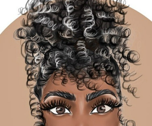 rizos, curly, and curly hair image